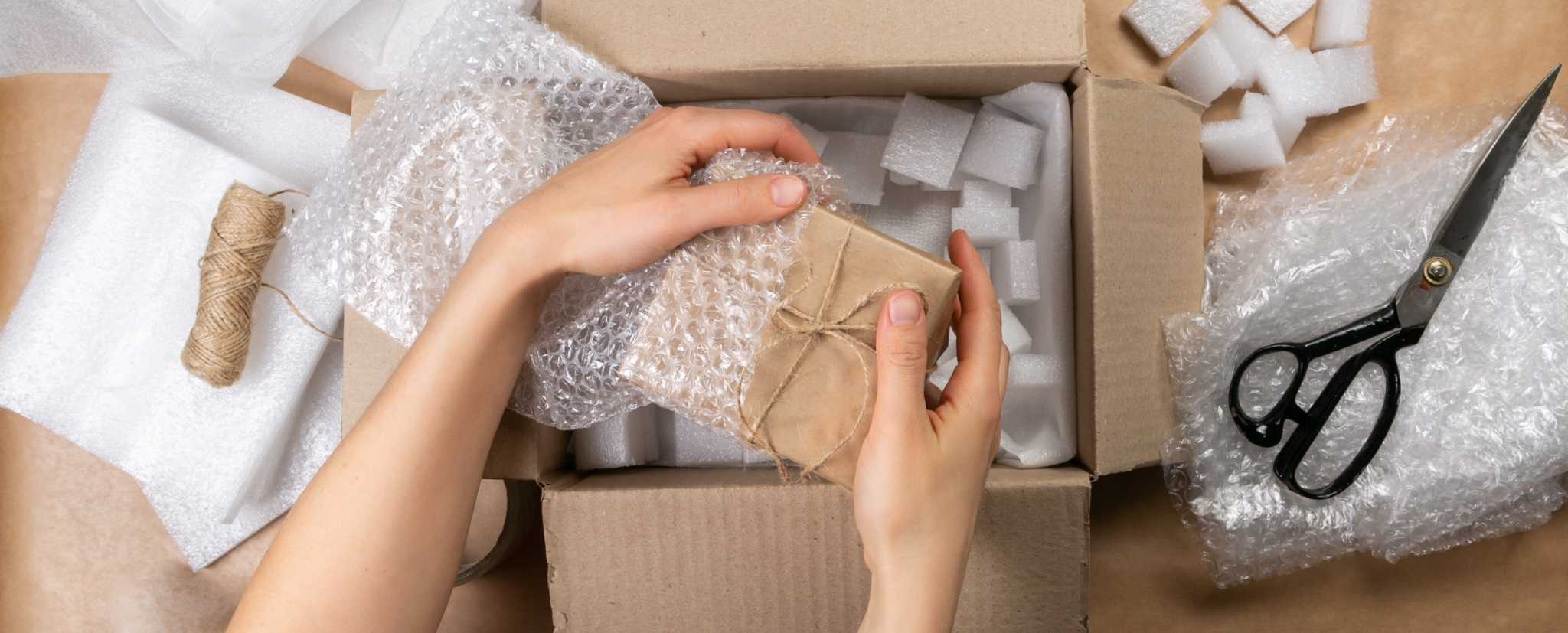 Packing products for delivery, shipping service